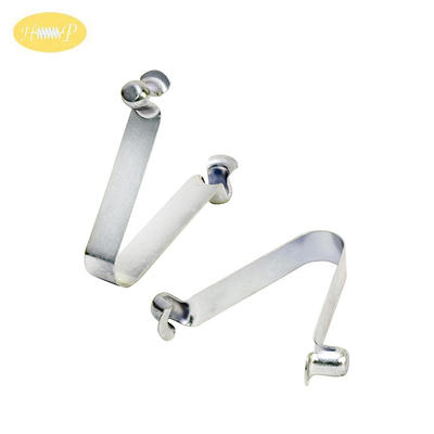 Spring Steel Helical Button Flat Spring Clip